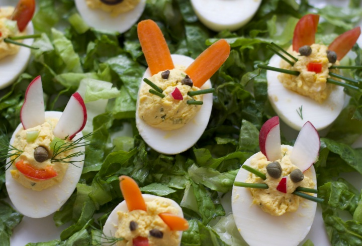 Deviled Egg Bunnies