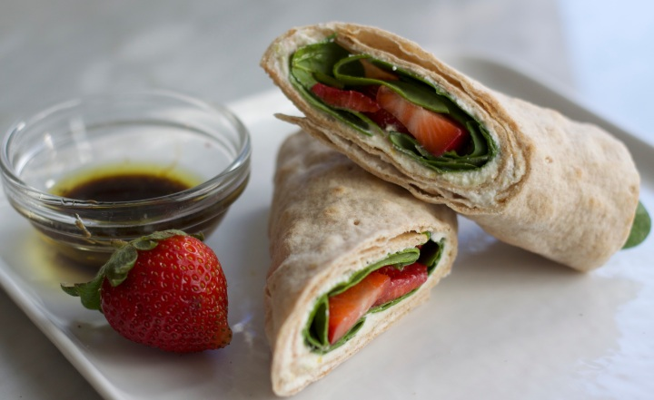 Strawberry Spinach Wrap